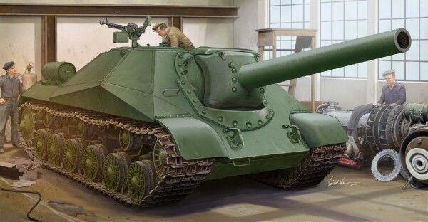 Soviet Project 704 SPH Tank 1 35 Plastic Plastic Plastic Model Kit TRUMPETER 92570f