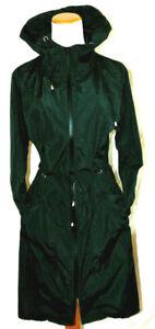ELESOL Women Waterproof Lightweight ZipHoodie RaincoatActiveBlackPolyester~M/XXL