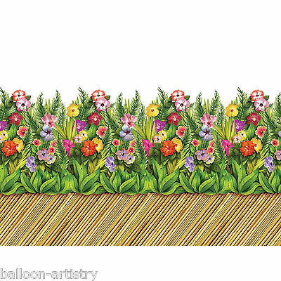 Tropical Luau Party Scene Setter Room Roll Border Decoration BAMBOO WALKWAY