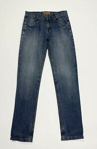 Rifle-jeans-donna-usato-slim-denim-W28-tg-42-straight-vintage-boyfriend-T5316
