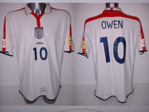 db492d054 England Owen XXL 2004 Shirt Jersey Football Soccer Umbro Liverpool ...