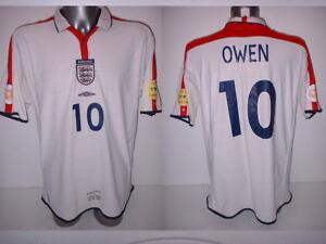 2ffb9e2b41 England Owen XXL 2004 Shirt Jersey Football Soccer Umbro Liverpool ...
