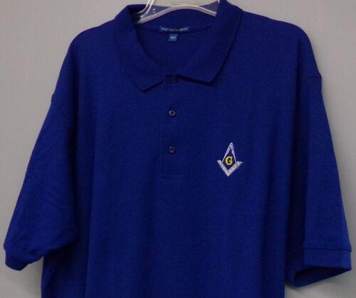 LT-4XLT Shriners New Freemason Masonic Masons Mens Embroidered Polo XS-6XL