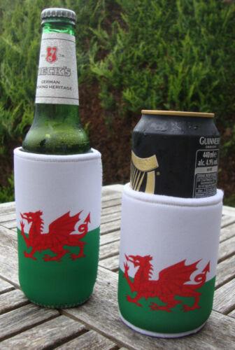 Cymru Gales Galés Bandera Stubby titular-puede//Botella Enfriador-Koozie