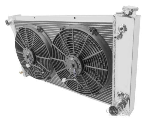 "67 68 69 70 71 72 Chevy C10 C20 K10 K20 K30 3 Core DR Radiator 14/"" Fans"