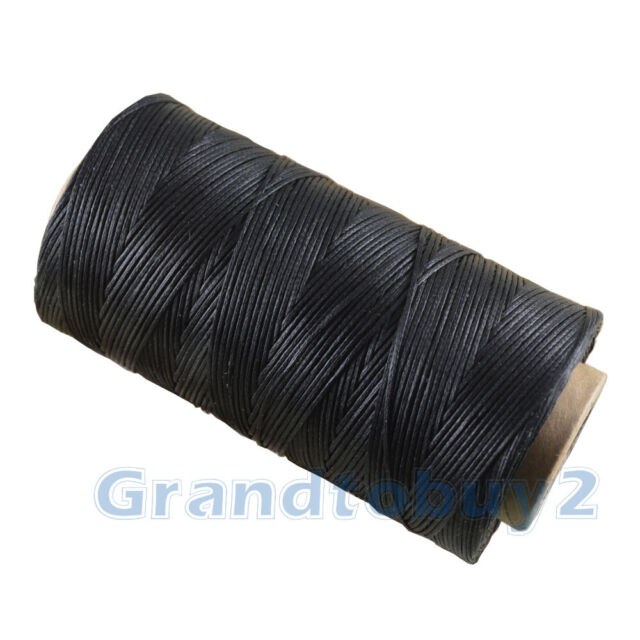 black Heavy Duty20 metres 1.2mm Thick Leather Sewing Waxed Flat Thread BEST BUY