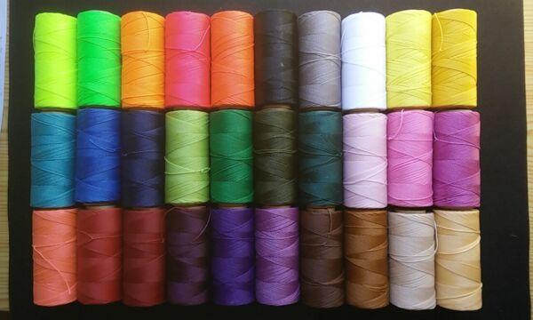 Ausdauernd Roll 170 Meter Gewachsten Faden Linhasita Hoch Quality Verschiedene Farben Ref:4 üPpiges Design