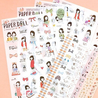 Diary Docoration Sticker Pony Brown Paper Doll_Clear