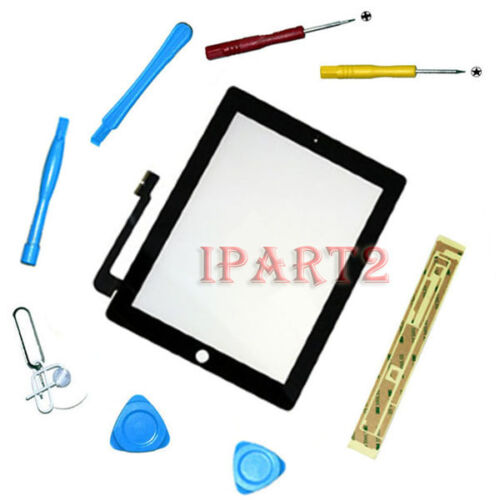 Compatible Front Panel Touch Screen Glass Digitizer for Apple iPad 3 Tools Black