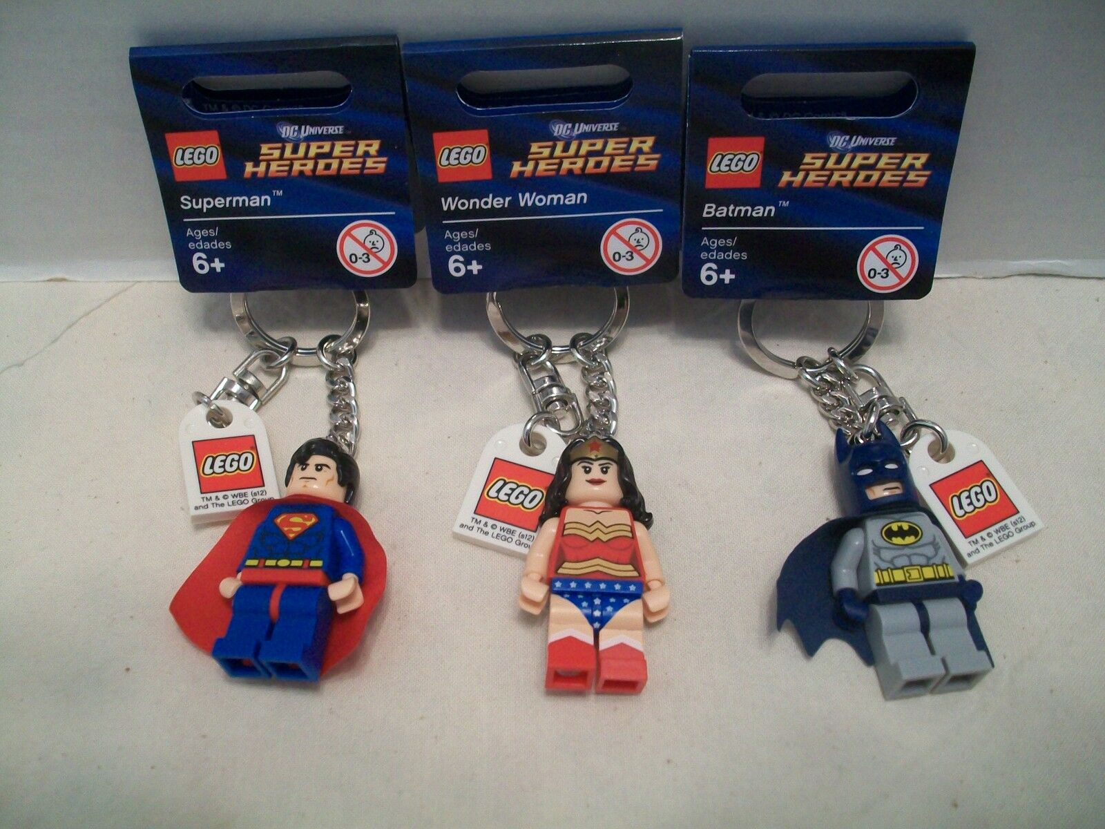 Lego  853429 DC Super Heroes Batman +2 More Different Key Chains Bundle RHTF