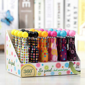 Plastic-Colorful-Novelty-Cute-Mini-Bowling-Ball-Point-Pen-Kids-Gift-Stationery