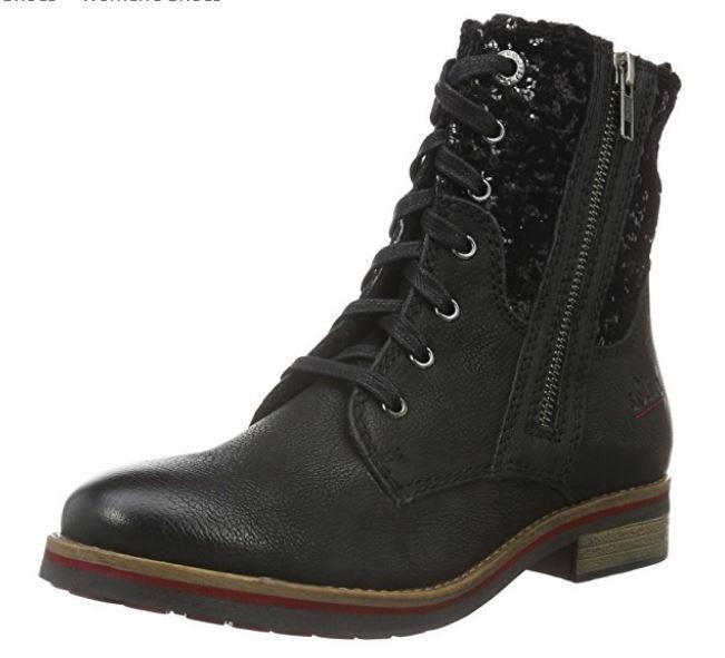 S.Oliver Damens's Ankle Stiefel BLACK UK 6 EU 39 LN23 87 SALEw