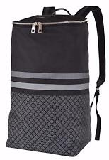 New Gucci Tall Black Gray Nylon Diamante Backpack Travel Bag 365284 1160
