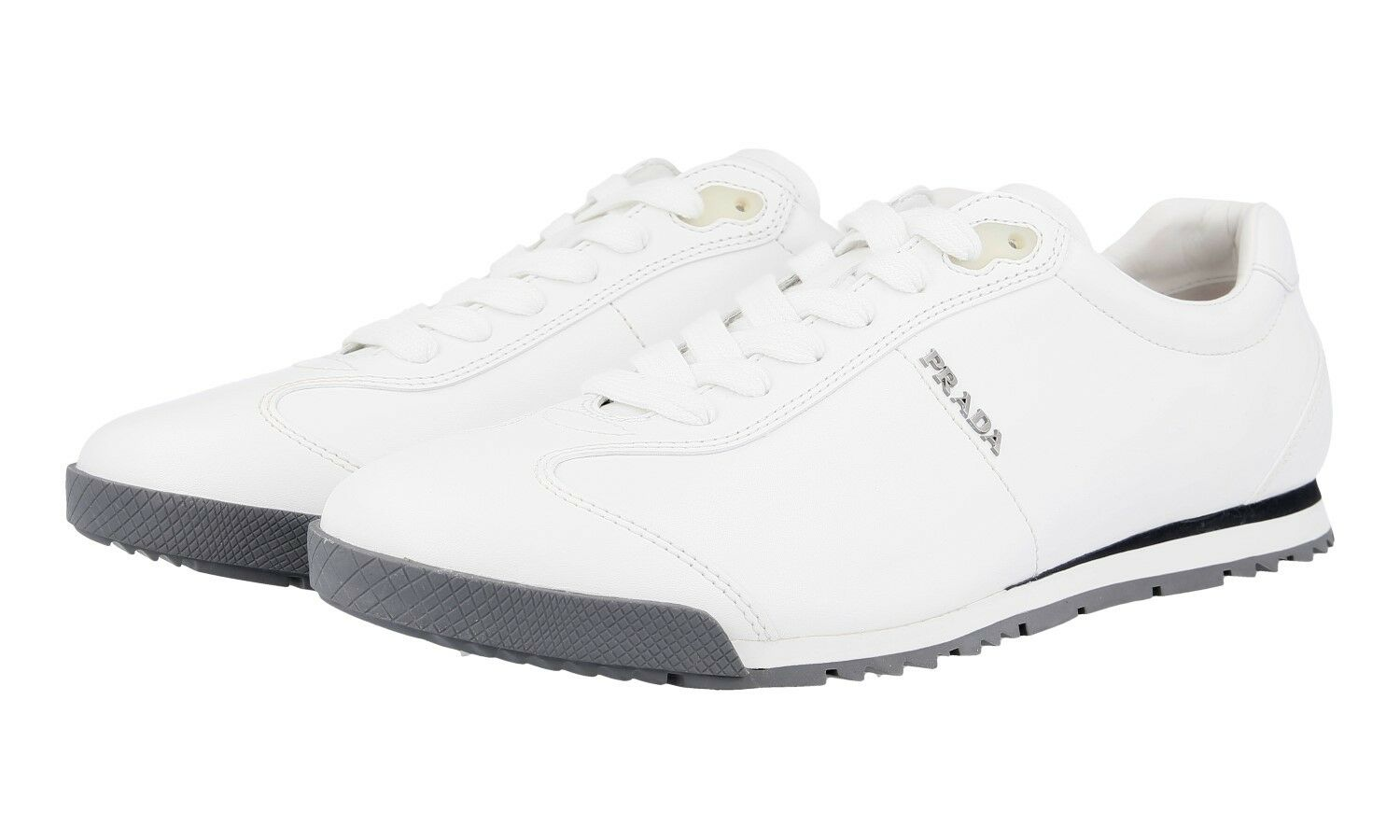AUTHENTIC LUXURY PRADA SNEAKERS SHOES 4E2554 WHITE NEW US 8