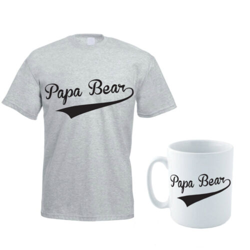 Dad Gift Idea Father Funny Men/'s T-Shirt and Mug Set Daddy PAPA BEAR