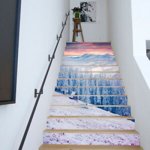 6-PCS-Snow-Scene-Stair-Tile-Stickers-Wall-Decals-Home-Decoration-Remove-PVC-DIY