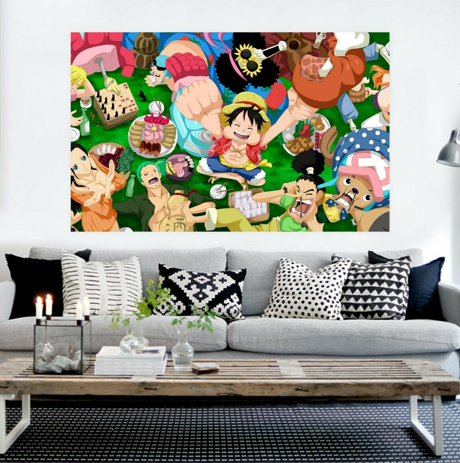 3D ONE PIECE I56 Japan Anime Wall Stickers Wall Mural Decals Acmy