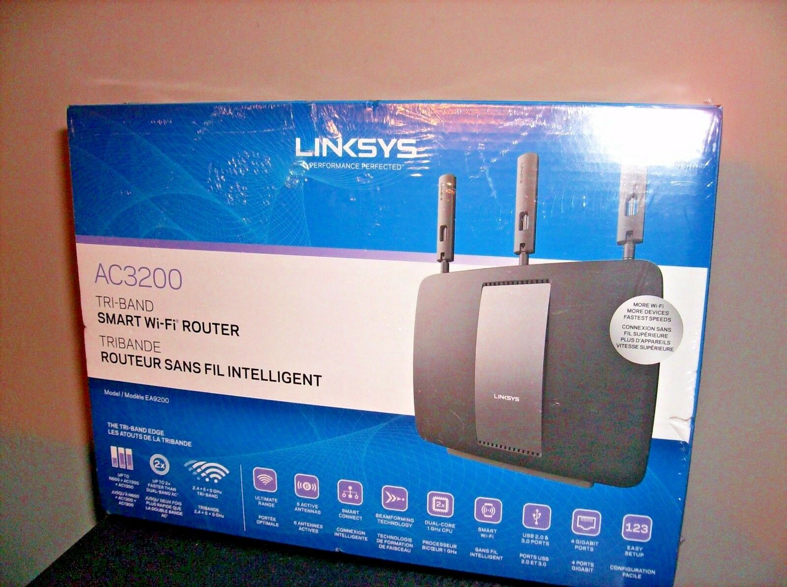 Linksys Ac3200 Tri Band Smart Wifi Router Ea9200 Ebay Asus Rt Wireless Gigabit Norton Secured Powered By Verisign