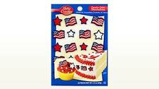 40 Betty Crocker Sugar Edible Forth of July Cupcake Cake Decoration Toppers 2 Pk