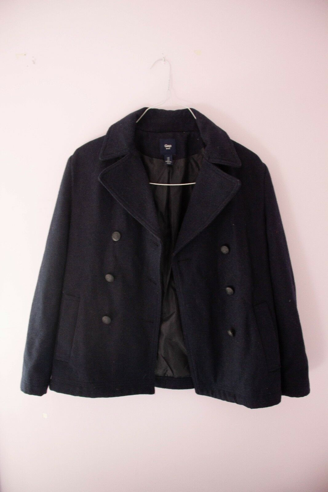 Women's Gap navy bluee pea coat, size S, perfect condition, slim fit
