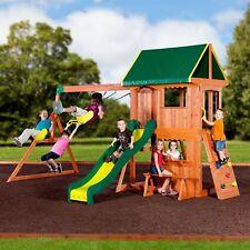 Backyard Discovery Tanglewood Cedar Wooden Swing Set Outdoor
