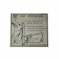 1956 1957 Oldsmobile Jack Instructions Tag