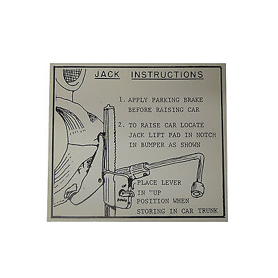 1956 1957 LINCOLN TRUNK JACK INSTRUCTIONS DECAL