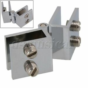 Image Is Loading Glass Door Clamp Hinge Double Action 180 Degree