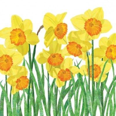 4 x Single Paper Table Napkin/Decoupage/Scrapbooking/Yellow Daffodils