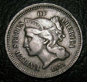 Old US Coins 1873  Obsolete Three Cent Piece