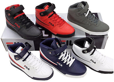 Mens Fila Vulc13 Mid Plus Suede Leather Mid HighTop Casual