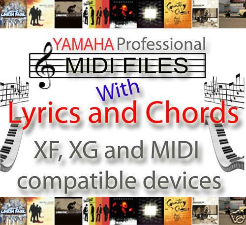 YAMAHA XG XF SONGS CHORDS /& LYRICS MIDI BACKING TRACKS