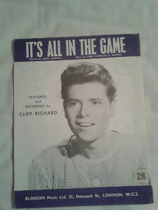 Cliff Richard It's All In The Game - YouTube