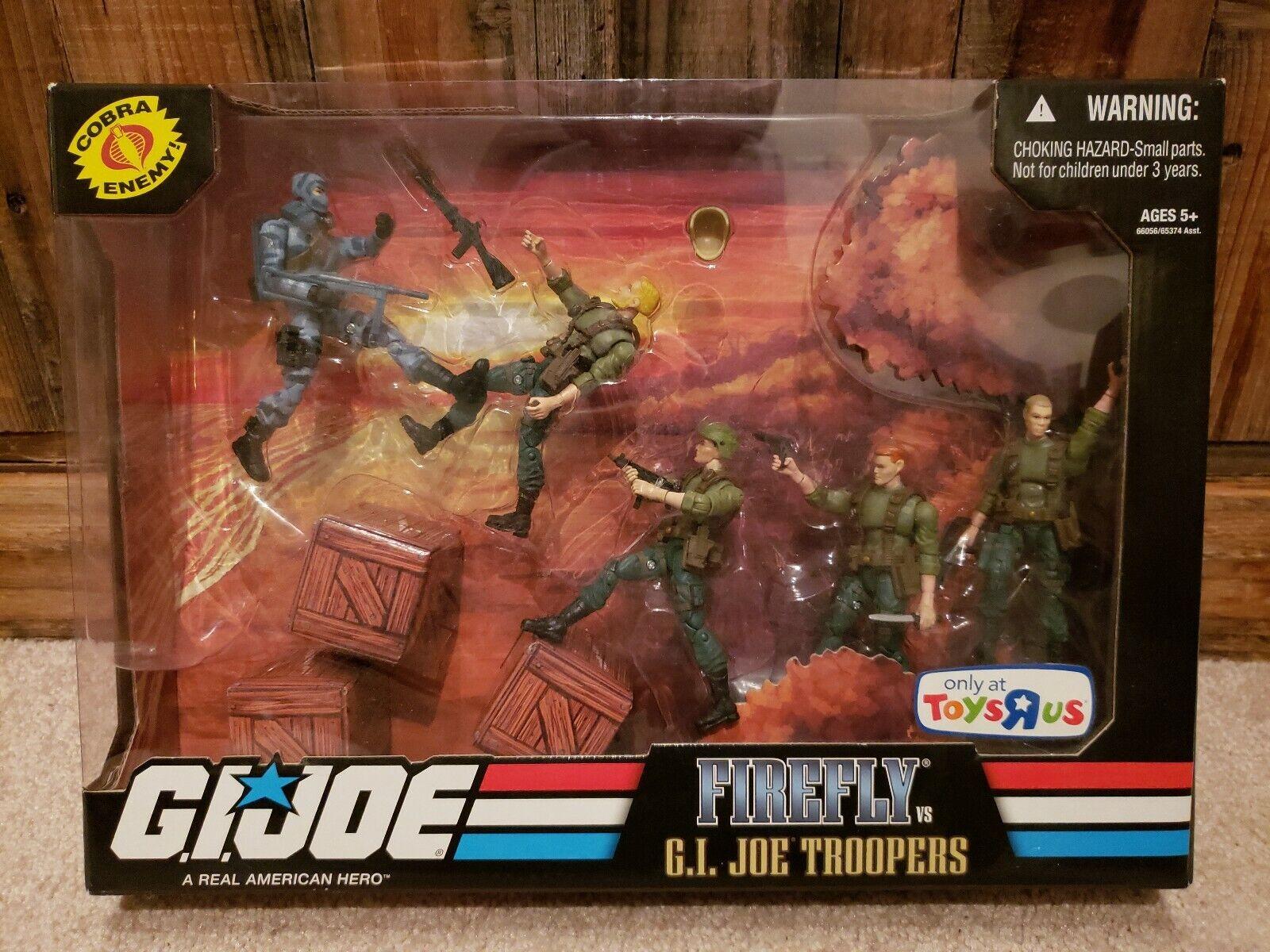 nuovo Sealed 2008 TRU Exclusive GI Joe Firevolare vs GI Joe Troopers