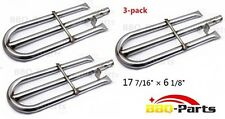 BBQ-Parts Center-Fed Pipe Burner 3-Pack Stainless For Gas Grill Barbecue Models