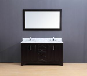Image Is Loading 60 034 Double Sink Bathroom Vanity Set White