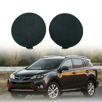 Pair Front Bumper Tow Hook Cover Cap Fit For 2013-2015 Toyota RAV4