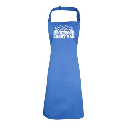 Funny Novelty Apron Kitchen Cooking Handy Man Youre Looking At An Awesome