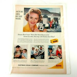 Vtg-50-039-s-Kodak-Print-Advertisement-with-Donna-Reed-and-Brownie-Starmite-Camera