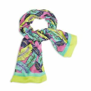 NWT-Authentic-Vera-Bradley-Oversized-Scarf-in-Palm-Feathers