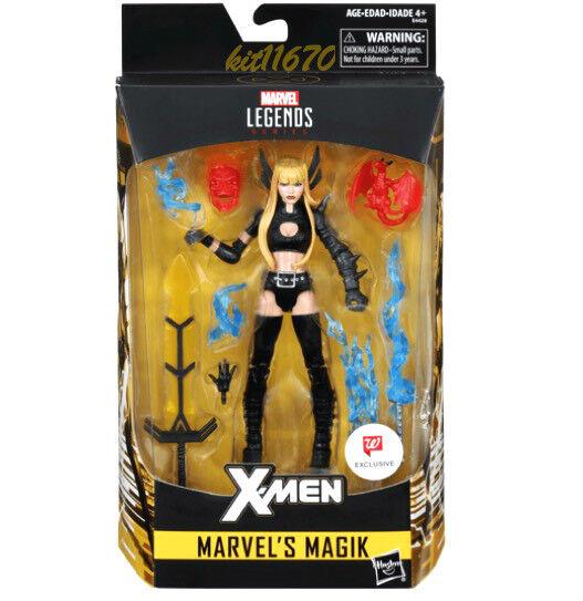 Fast-Ship  Hasbro Marvel Legends 2018 SDCC X-Uomo Magik Action Figure & BAF Nuovo