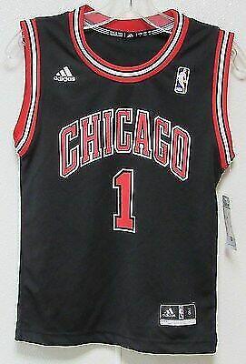 low priced 665b5 1ec07 adidas Derrick Rose Chicago Bulls Youth Black Replica Alternate Jersey Yth  S for sale online | eBay