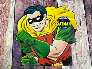 1966-There-Goes-Robin-45-Record-Die-Cut-Picture-Comic-Sleeve-Batman-Boy-Wonder
