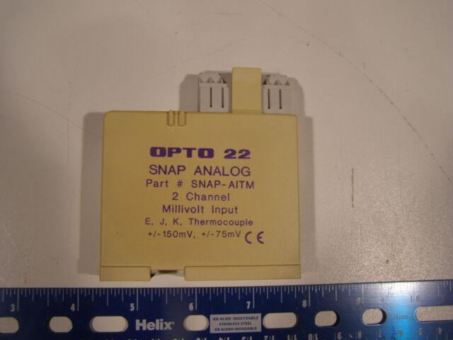 OPTO 22 SNAP-AITM 2 Channel Millivolt Input E J K Thermocouple FREE SHIPPING