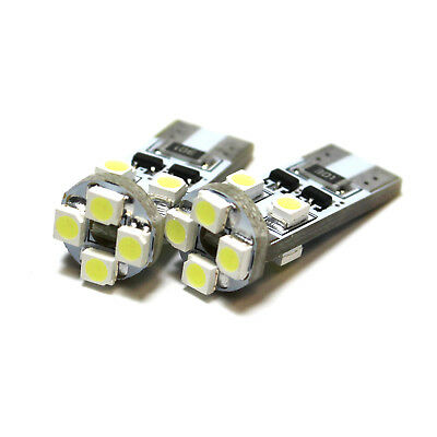 2x Bright Xenon White 8smd Led Canbus No Error Free Number Plate Bulbs