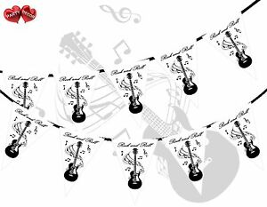 Rock-and-Roll-Guitar-Notes-Black-Theme-Bunting-Banner-party-by-PARTY-DECOR