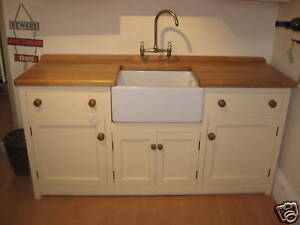 1830 x 600 MURDOCH TROON FREESTANDING PINE KITCHEN BELFAST SINK ...