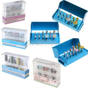 Dental Diamond Bur Cups Composite Polishing Kit for Low Speed Handpiece RA HP