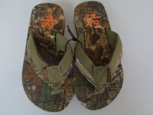 NEW Boy Toddler *12* or *13* REALTREE Camo Flip Flops Thong Sandals REAL TREE