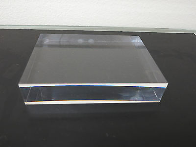 "CELL CAST ACRYLIC PLEXIGLASS SHEET//BLOCK//SLAB CLEAR 3//4/"" x 2/"" X 6/"""